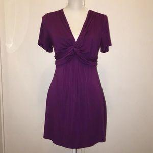 SOMA Sz M Purple V-Neckline Short Sleeve Tunic/Top